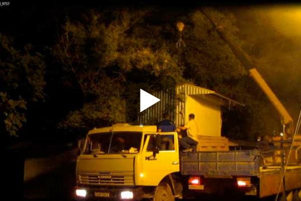 снос киоска в Севастополе