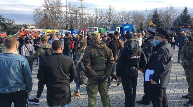В защиту Навального вышли в Севастополе и в Симферополе